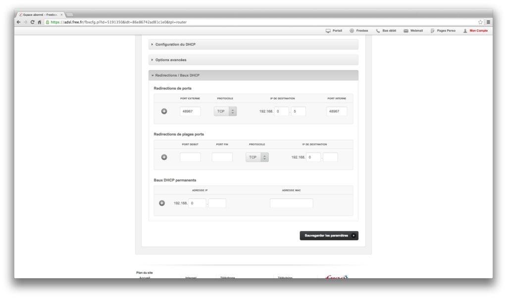 utorrent lent redirection port tcp freebox