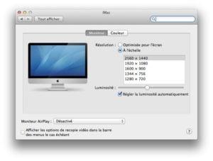 changer rapidement la résolution écran Mavericks tutoriel