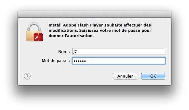 installer Flash pour Mavericks installation flash mavericks