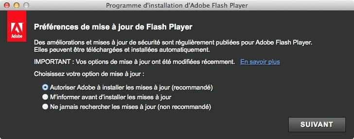 installer Flash pour Mavericks installation flash safari