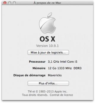 osx 10.9.1 maj