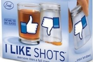 I LIKE SHOTS verre facebook