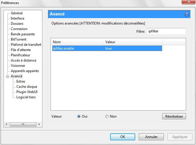 Utorrent par défaut vous donne quelques moteurs de recherche assez basiques, nous allons pallier à cette lacune en modifiant le code source. Supprimer tout ce qui apparaît par défaut dans le volet de droite de la boîte Extras, vous allez remplacer tout ça par ce code de moteurs de recherches.