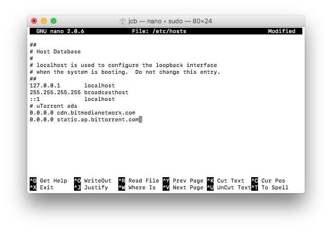 supprimer les publicites uTorrent mac nano editeur