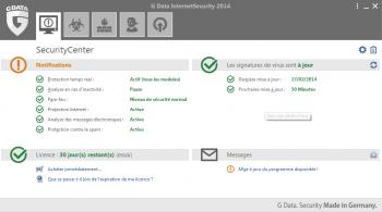 G Data InternetSecurity 2014 - pare-feu 2014