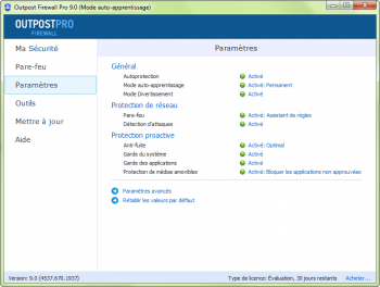 Outpost Firewall Pro 2014 - pare-feu