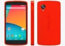 Google Nexus 5 rouge : déballage coffret !