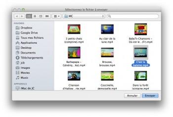 bluetooth envoyer mac