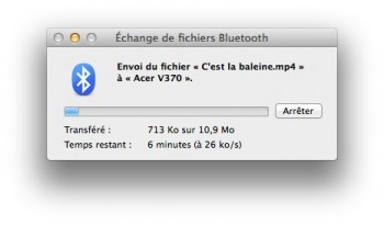 envoi fichier bluetooth imac
