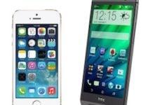 Apple iPhone 5s vs HTC One M8 (2014) : lequel choisir ?