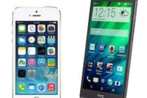 iPhone 5s vs HTC One
