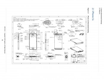 iphone 5s schema technique