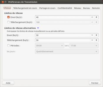 transmission ubuntu vitesse
