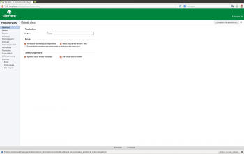 ubuntu utorrent configuration langue