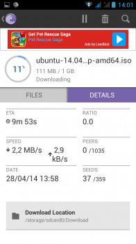 details dl bittorrent android