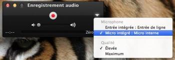 enregistrer du son sur Mac