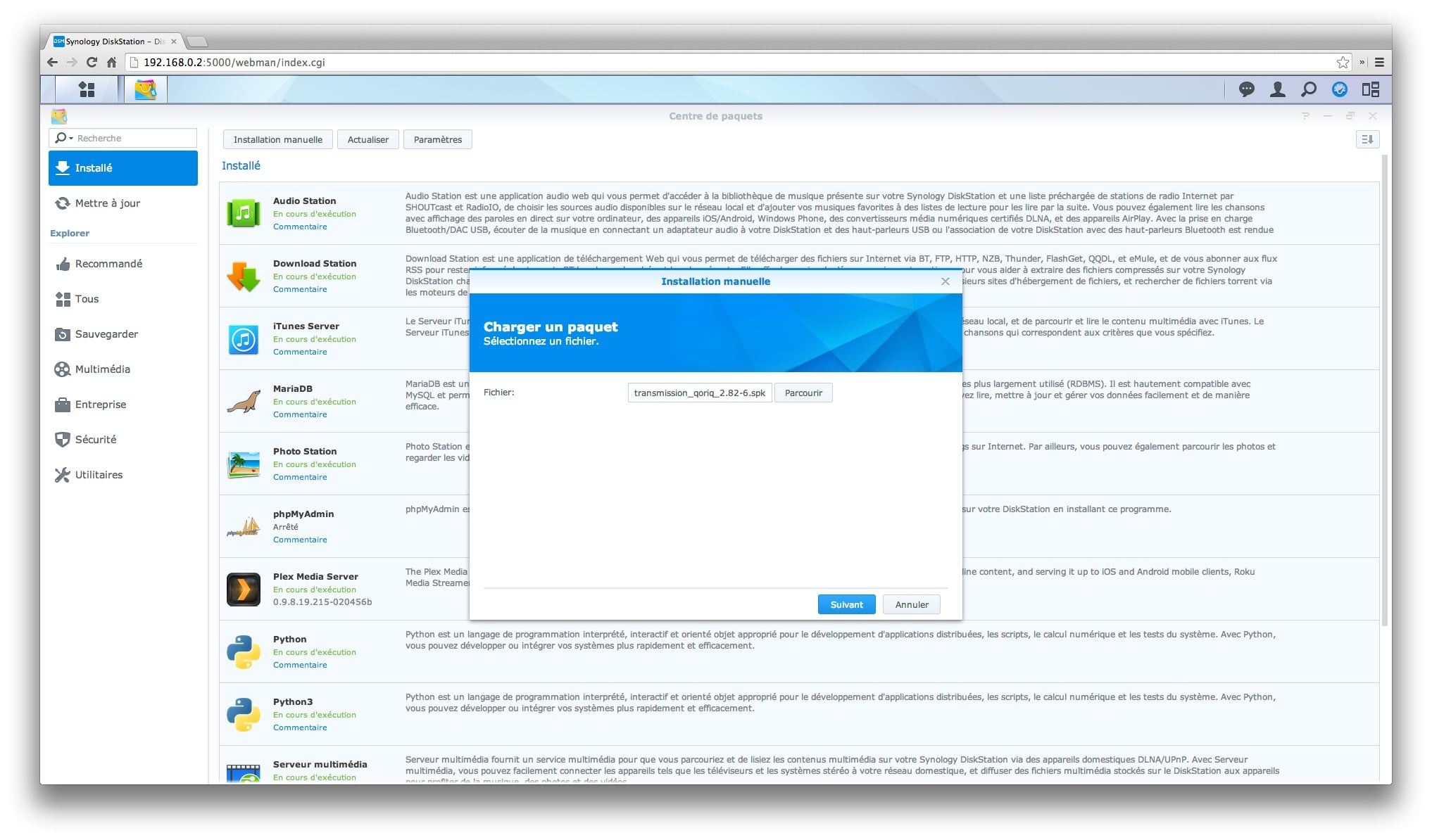 Paquet synology newsgroup
