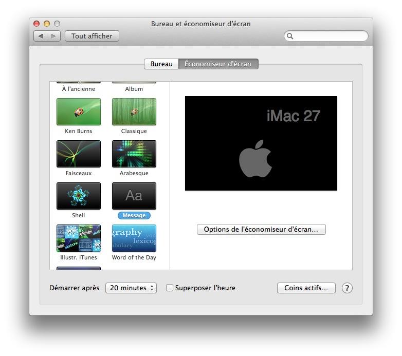 mac ecologique economiseur ecran mac