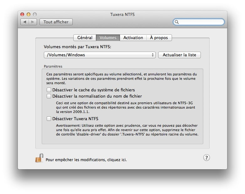 mac ntfs tuxera volumes