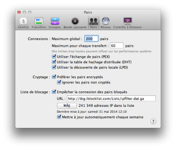 torrent mac - transmission preferences