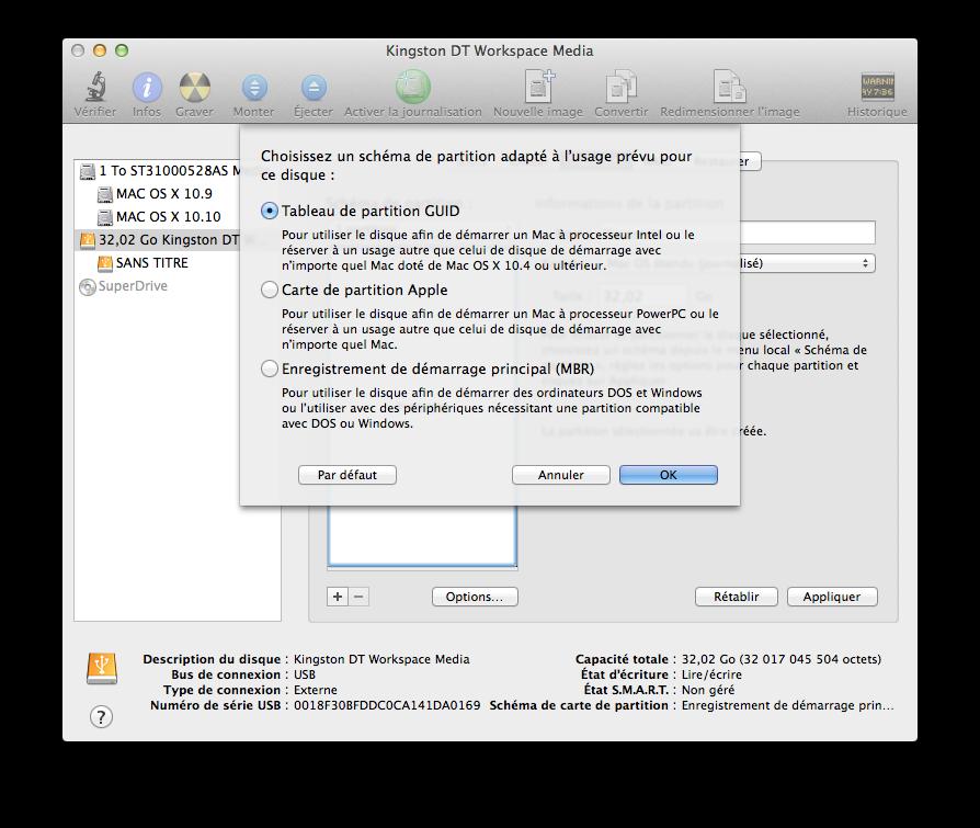 Créer Un Disque USB Yosemite Bootable