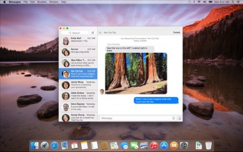 Yosemite message sms