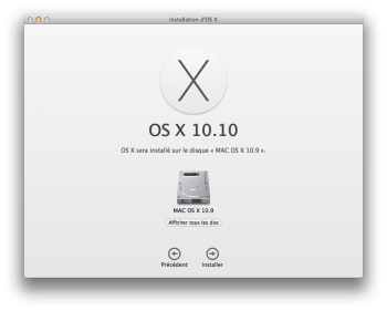 yosemite bootable afficher disque