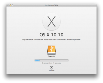 yosemite bootable preparation cle usb