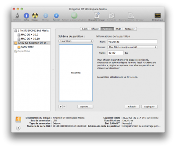 yosemite bootable usb partition