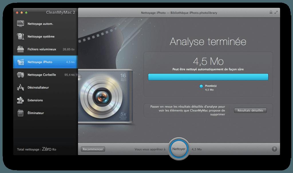 Nettoyage disque dur Mac bibliotheque iphoto