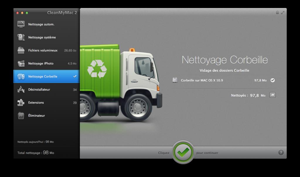 Nettoyage disque dur Mac corbeille