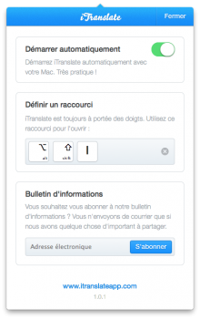 itranslate dictionnaire