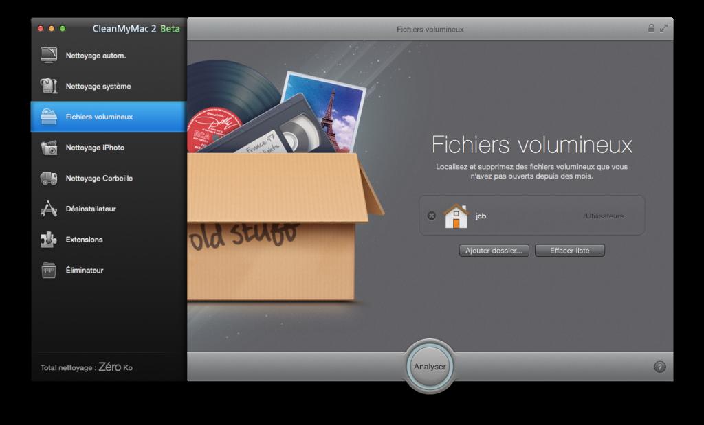 optimiser yosemite fichiers volumineux