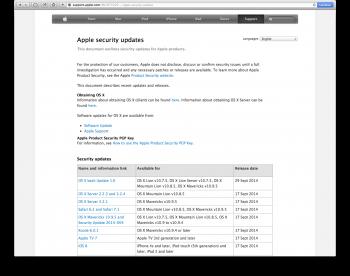 Bash apple security update