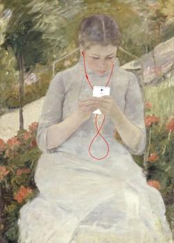 Kim Dong-Kyu Art Femme lisant dans un jardin