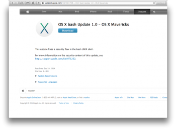 bash os x mavericks update