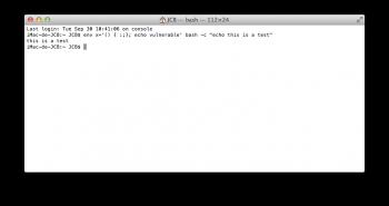 bash shellshock mac
