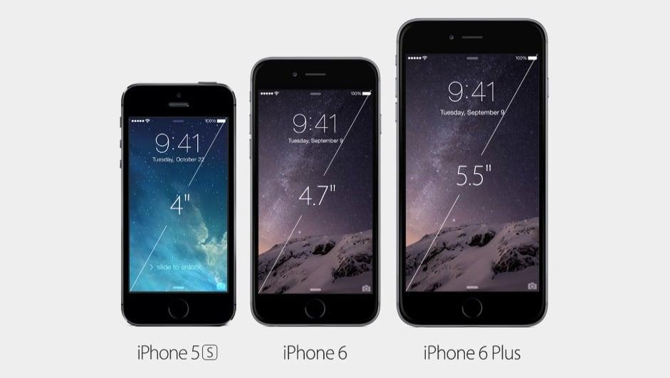 iphone 6 Plus comparaison ecran
