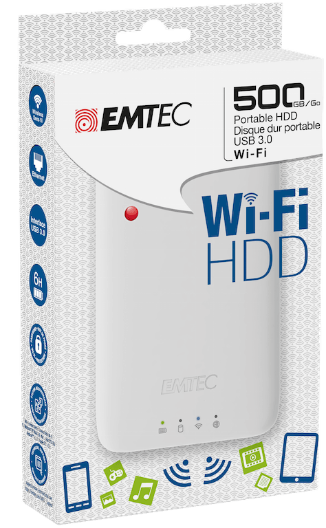 Emtec Wi-Fi HDD vue coffret