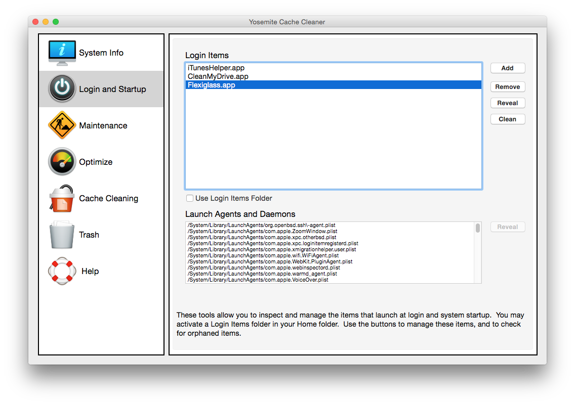 Yosemite Cache Cleaner demarrage acceleration