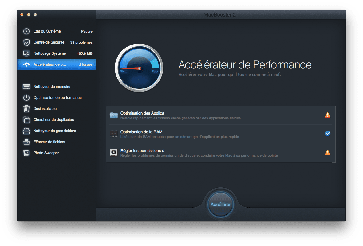 booster Yosemite accelerateur de performances