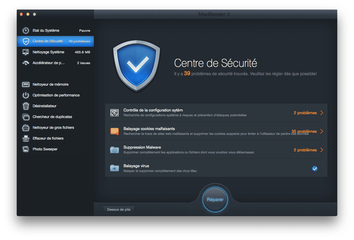 booster yosemite securite
