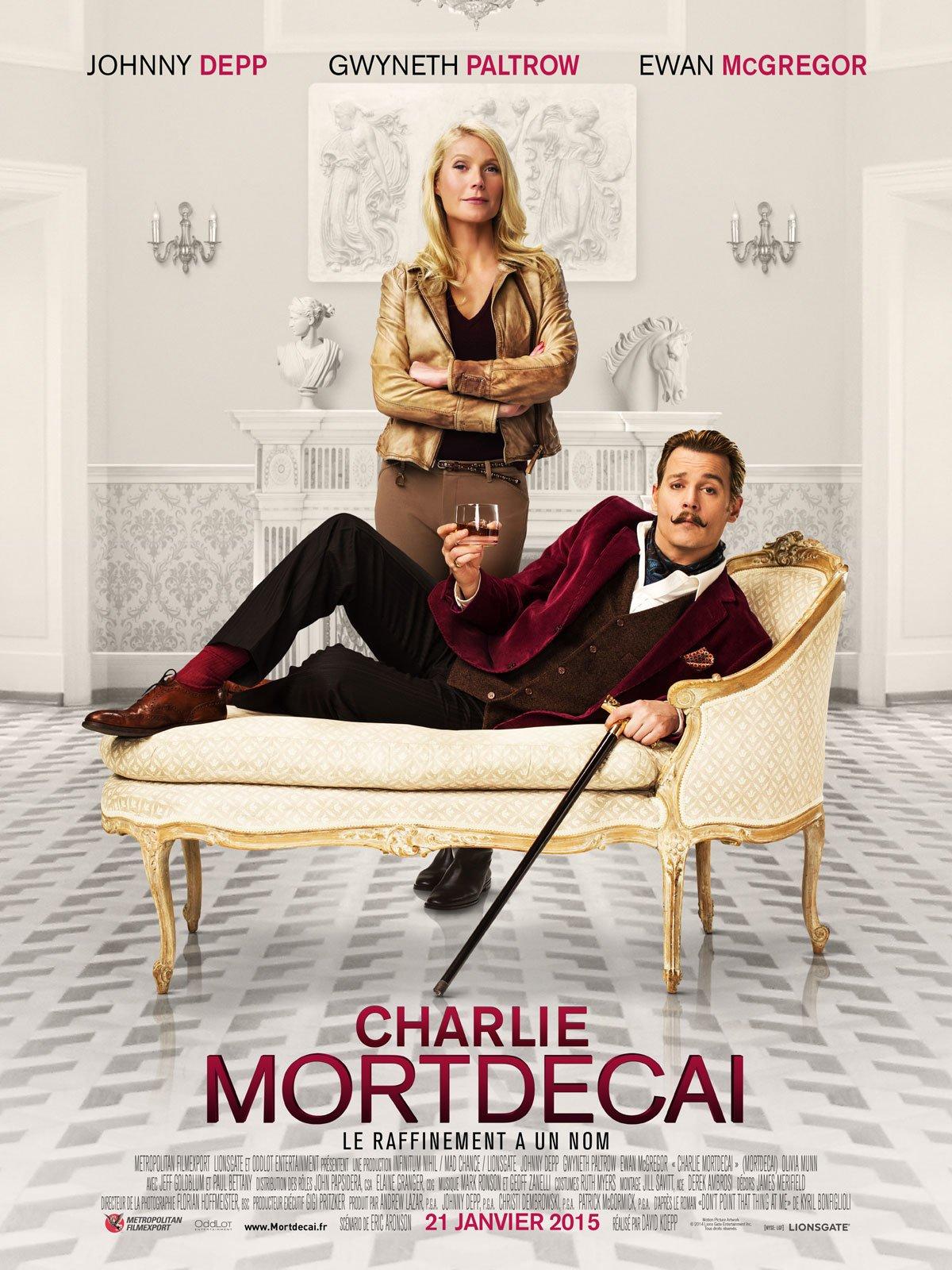 Charlie Mortdecai affiche du film