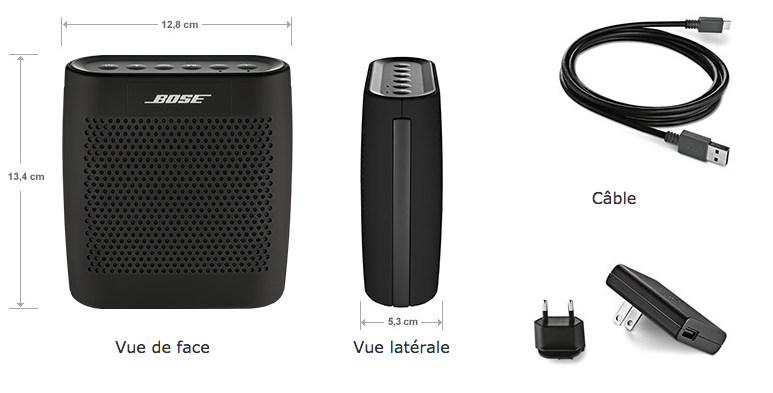 Bose SoundLink Colour contenu coffret