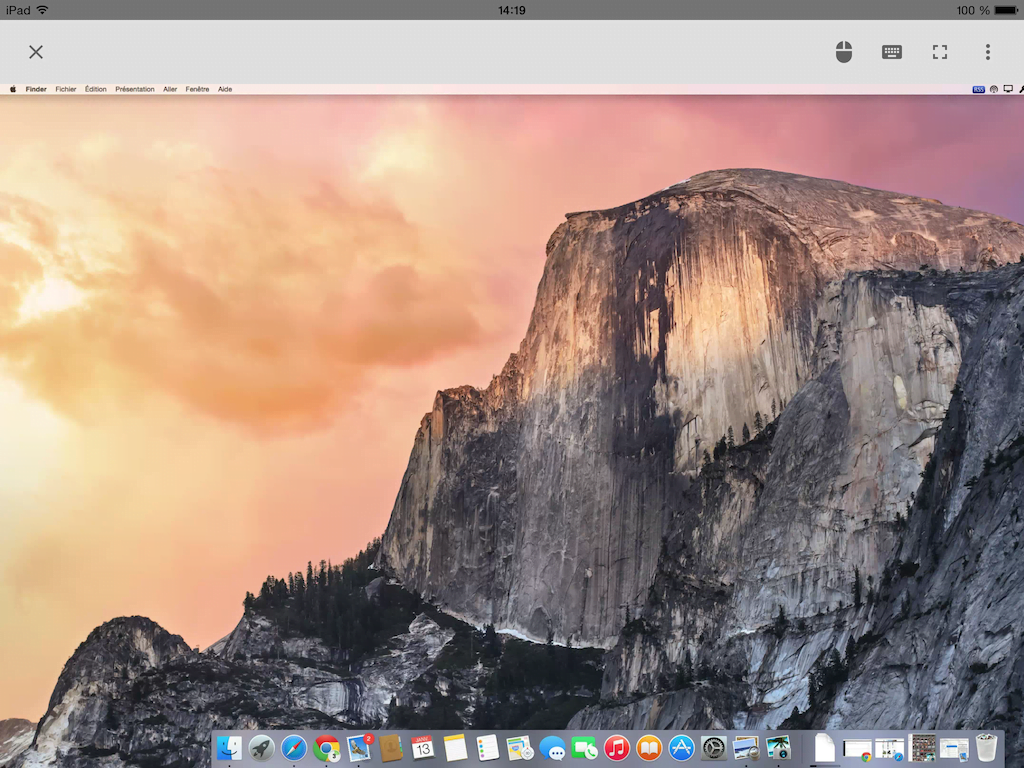 chrome remote desktop yosemite