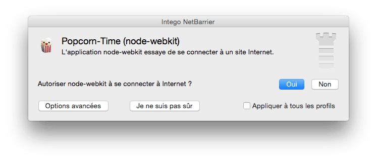 configurer popcorn time firewall