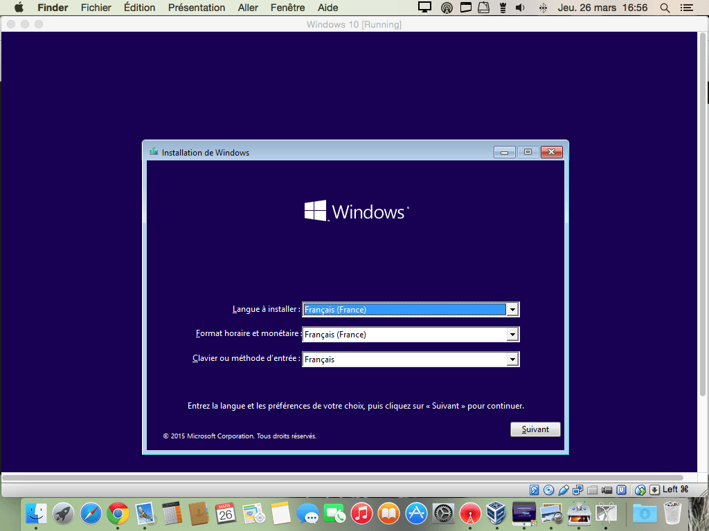 installer Windows 10 sur Mac virtualbox