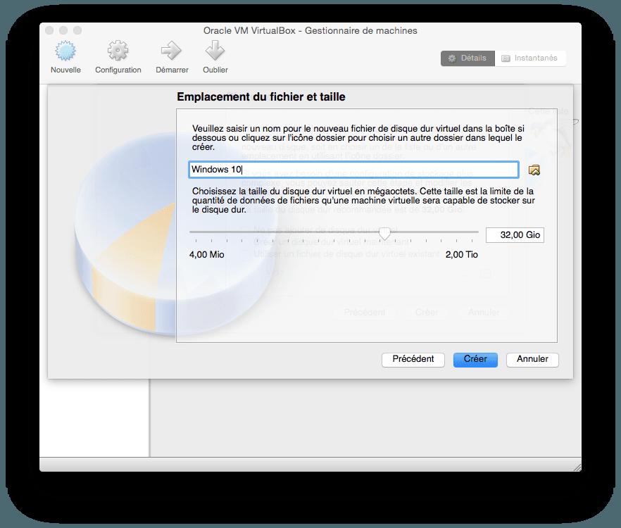 installer windows 10 sur mac emplancement fichier