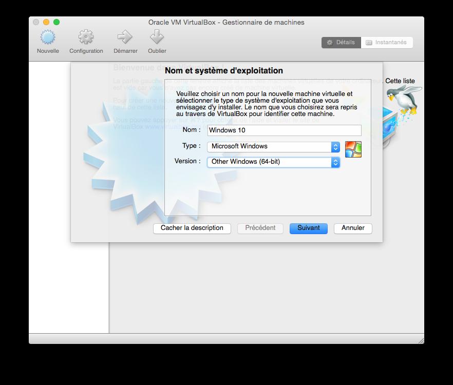 installer windows 10 sur mac version 64 bits