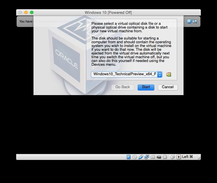 installer windows 10 sur mac virtuel disque